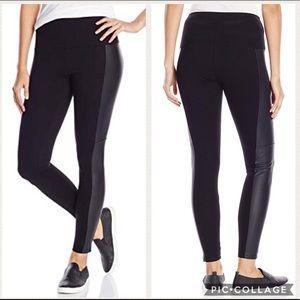 Lysse | Vegan Leather Panel Leggings XL Black A732